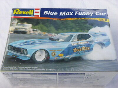 A Revell Un Open Factory Sealed Plastic Kit Of BLUE MAX Funny Car • 43.99£