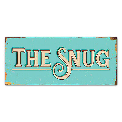 Metal Wall Sign - The Snug Den Small Private Room Leisure Home Gift Plaque • 8.99£