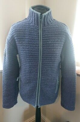 Mens Pachamama Hand Knitted Wool Thick Hippy Jacket Size Small/Medium • 55.50£