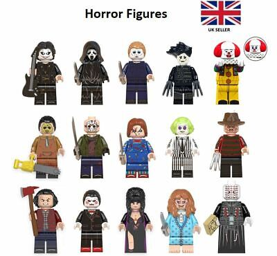 Horror Mini Figures Freddy Krueger Michael Myers Beetlejuice Chucky Friday 13th • 3.39£