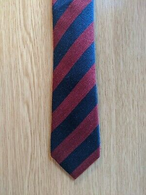 Peter Werth Wool And Silk Tie (slim) (striped Red And Blue) (superb Condition) • 5£