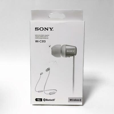 NEW Sony WI-C310 Bluetooth Wireless In-Ear Headphones With Mic/Remote - White • 22.90£