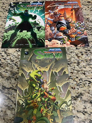 $18.95 • Buy Masters Of The Universe Rise Of The Snake Men #1-3 2003 CGE VF/NM Set MOTU 1 2 3