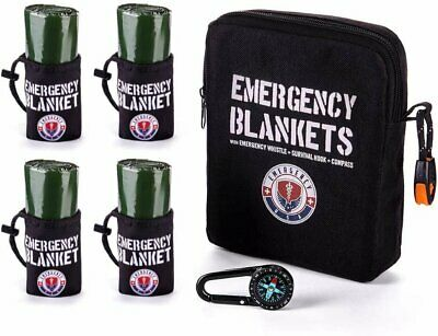 $71.82 • Buy Pack Of 4 Emergency Blankets – Mylar Thermal – Military Survival Blankets