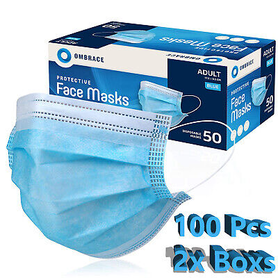 $14.98 • Buy 100 PCS Face Mask Mouth & Nose Protector Respirator Masks With Filter USA Seller