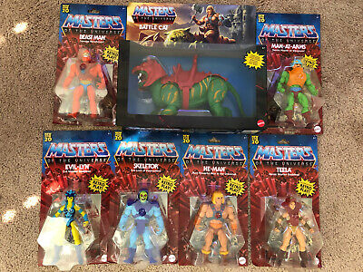 $199.99 • Buy NEW MASTERS OF THE UNIVERSE  Complete SET **With Scareglow** He Man Skeletor Cat