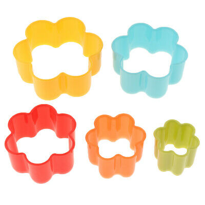 5Pcs Cookie And Biscuit Cutters Assorted Sizes Bright Colors • 4.62£