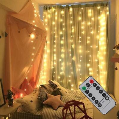 300 LED Fairy String Lights In/Outdoor Curtain Window Wedding X'mas Party Decor • 8.99£