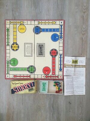 Rare Vintage Sorry Board Game Complete Small Box With Separate Board Pre War  • 35.50£