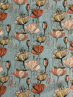 £55 • Buy 12 Metres Green Flower  Vintage Floral World  100% Printed Cotton Fabric
