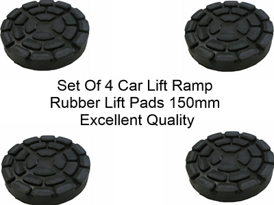 SET OF 4 PADS Ravaglioli 2 Post Car Lift Ramp Rubber Pads - 150 Mm - REAL RUBBER • 38.99£