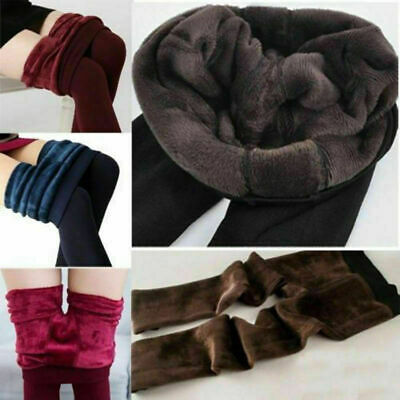 £4.99 • Buy Ladies New Winter Faux Fur Thick Lined Stretchy Thermal Leggings Jeggings Pants