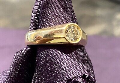 18 Ct Yellow Gold Solitaire Diamond Ring Used • 400£