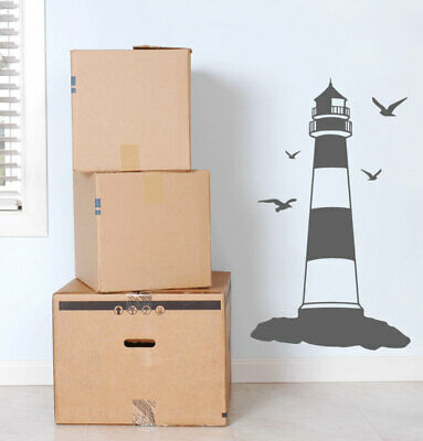 Lighthouse Seagulls Wall Sticker Kids Bedroom Decal Graphic Mural Nautical Seasi • 19.99£