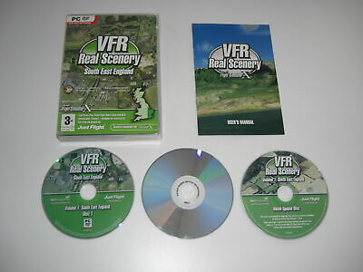 VFR REAL SCENERY VOL 1 South East England Pc DVD Add-On Flight Simulator X FSX • 7.99£