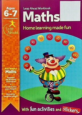 Year 2 Maths Book Age 6-7 KS1, Home Learning Fun, Stickers, Activities, (UNUSED) • 3.12£