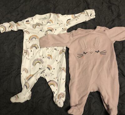 Baby Girl Next Babygrow / Sleepsuit Upto 1 Month - Perfect Condition Worn Once • 3£