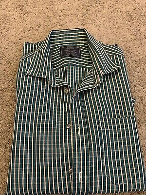 Mens Atlantic Bay Soft Touch Short Sleeve Holiday Casual Shirt Size M • 4.50£