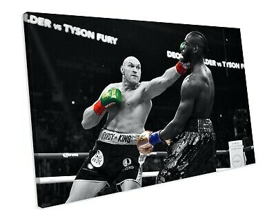 Tyson Fury Sports Boxing CANVAS WALL ART Framed Picture Print • 19.99£