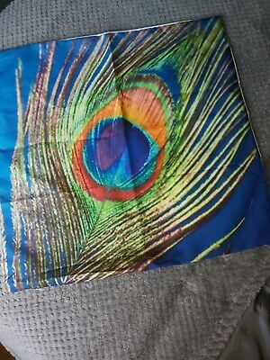 Cushion Cover, Peacock Feather Design  • 2.90£