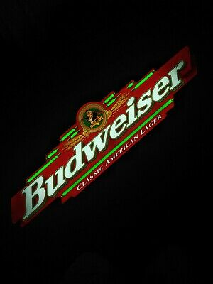 $ CDN289.62 • Buy 1998 Budweiser Classic Lager Light-Up Electric In-Store Promo Sign Beer Preowned