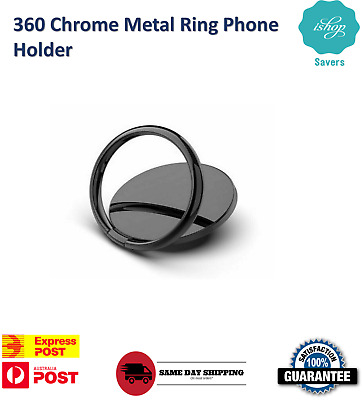 AU6.90 • Buy 360 Chrome Metal Ring Phone Holder Stand Socket Mount Car Pop Out Android IPhone