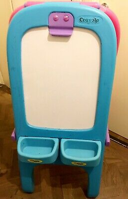 Crayola Double-sided Easel.Magnetic Whiteboard+Chalk Board+trays. London NW3 • 4.99£