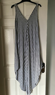 Grey And White Stripe Harem Jump Suit, Ladies, One Size, Tillets • 5£