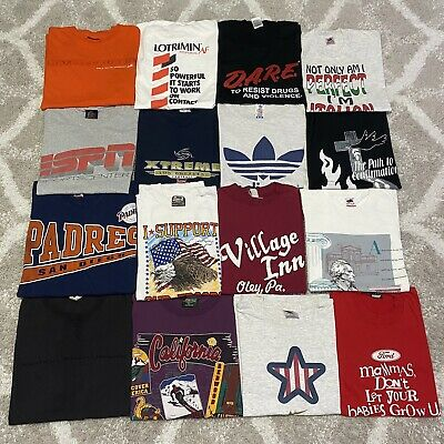 $ CDN162.86 • Buy Vintage 90s T Shirt Bundle Lot Of 16 T Shirts Vtg Assorted Sizes Single Stitch