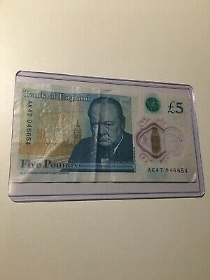 £5 - AK 47  Five Pound Note Rare Extremely  Collectable Creased Condition • 7.49£