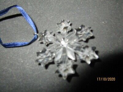 2004 SWAROVSKI CRYSTAL 663147 LITTLE SNOWFLAKE STAR HANGING ORNAMENT Boxed Mint • 21£