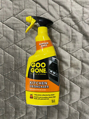 NIB New Goo Gone Kitchen Degreaser Spray 28 Oz - Removes Kitchen Grease Grime • 17.01£