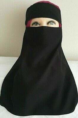 Single Layer Niqab Face Veil With Tie Back • 5.30£