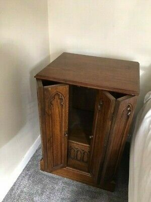 Antique Cabinet Mahogany Wood 57cm Wide, 46cm Deep 82cm High With Drawer • 30£