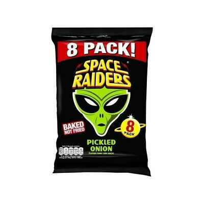 Space Raiders Pickled Onion Cosmic Corn Multipack Crisps • 5.98£