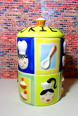 'New' Rayware Ceramic Chef Cookie Biscuit Jar With Defect (Please Read Below) • 30£