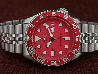 $ CDN71.03 • Buy Seiko Diver Stunning Red Face Mod 7s26-0020 Skx007 Automatic Men Watch 601170