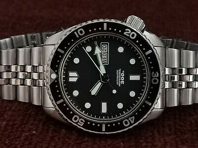 $ CDN108.81 • Buy Vintage Seiko Diver 6309-729a Black Mm 300 Face Mod Automatic Men Watch 472341