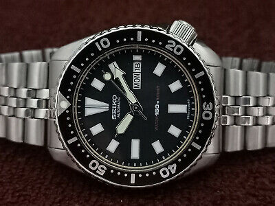$ CDN123.23 • Buy Vintage Seiko Diver 6309-729a Black Face Mod Automatic Men Watch 781337