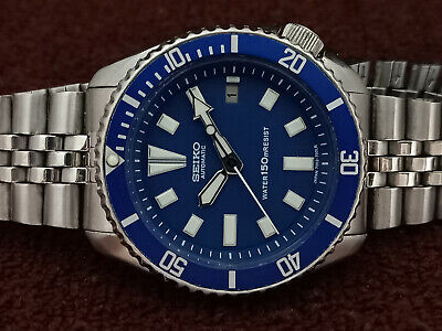 $ CDN119.30 • Buy Vintage Blue Face Mod Seiko Diver 7002-7001 Automatic Men's Watch 502583