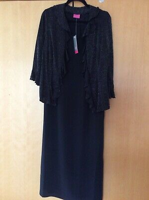 Ladies Dress And Jacket In Black. Size 12. By For Women. • 12.50£