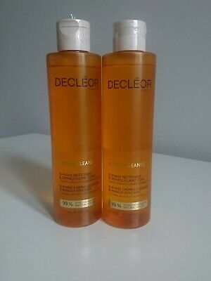 Decleor Aroma Cleanse Bi-Phase Caring Face Wash Cleanser Makeup Remover 200ml X2 • 20£