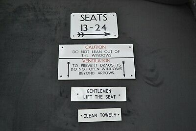 Collection Of Unused Railway Carriage Signs • 8£