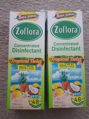 2x Zoflora Tropical Twist (Limited Edition) Concentrated Disinfectant 120ml • 2.60£