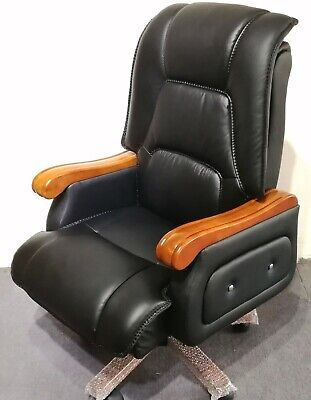 AU550 • Buy Deluxe Genuine Leather Office Executive Chair Backrest / Relax B035