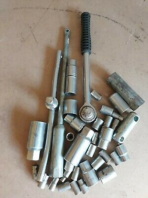 Job Lot Sockets 4.5 5 6 7 8 9mm Plus Others Plus 4 Imperial Sockets. See Photos. • 5£