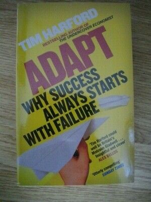 Tim Harford- 3 Book Set - Adapt, The Logic Of Life,The Undercover Economist. NEW • 5£