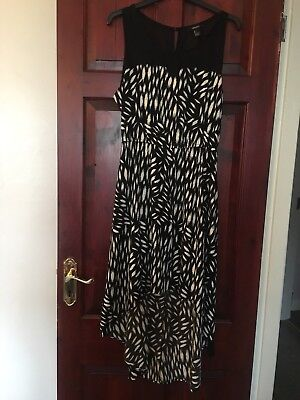 Forever 21 High Low Dress In A Black Pattern Large 12/14 • 12£