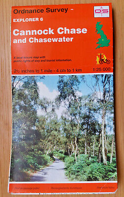OS Explorer Map 6 - Cannock Chase And Chasewater - 1:25,000 • 3.50£
