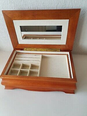 Wooden Jewellery Box Two Tier With Compartments  • 6.50£